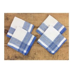 Vintage cloth napkins lot of 4 mid century stripe